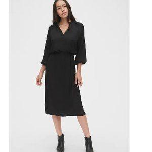 NWT Gap Split Neck Midi Dress XXL Black D355